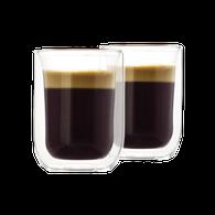 Set luxe dubbelwandige glazen (130 ml)