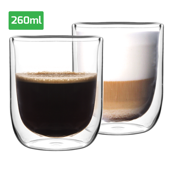 Set luxe dubbelwandige glazen (260 ml)