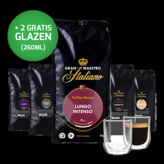 5 Varianten Koffiebonen proefpakket - Krachtig en Intens