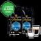 Proefpakket Grand Maestro Italiano - caffeinevrij koffiebonen (2 kg) en 2 luxe dubbelwandige glazen