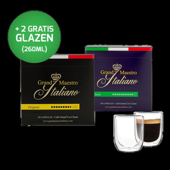 Nespresso compatibel - capsules - proefpakket - Grand Maestro Italiano (100 cups)
