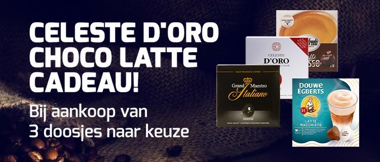 Celeste d'Oro Choco Latte Cadeau bij 3 doosjes.