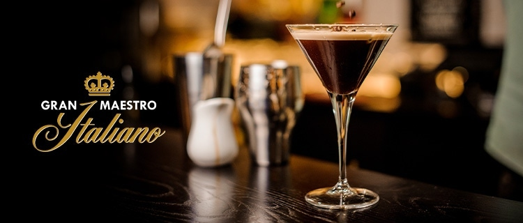 Koffie cocktail met espresso en Martini